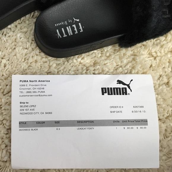 Puma Fenty Glir Svart 6.5 xKxPqM