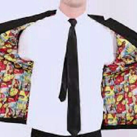 e7c1d227f3d Men Marvel Comic lined Suit jacket