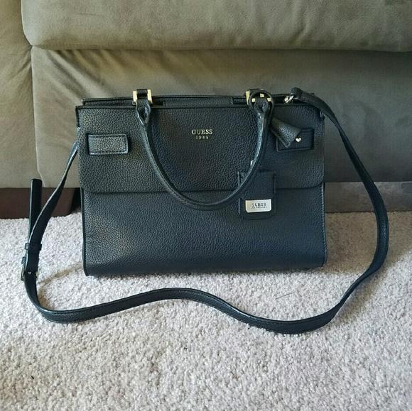 658b5b71d7bf Guess Handbags - Guess Black Satchel Purse!
