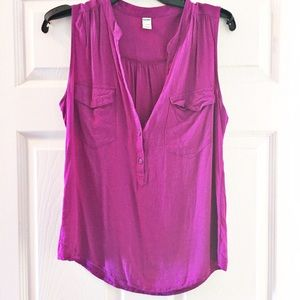 Gorgeous purple sleeveless top, size med