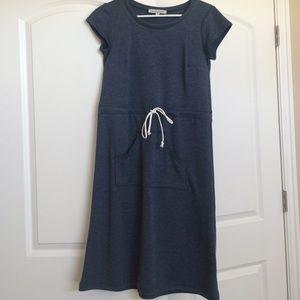 Heathered navy dress