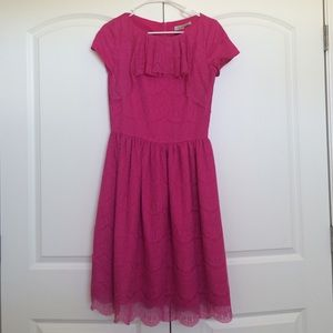 shabby apple Dresses & Skirts - Hot pink lace dress