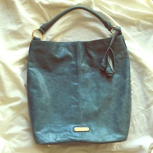 Authentic Cynthia Rowley blue studded bag