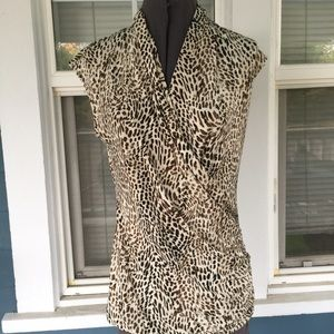 VINCE CAMUTO Animal Print Top