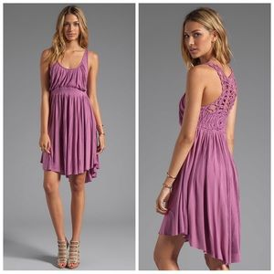 FREE PEOPLE Dress with Crochet