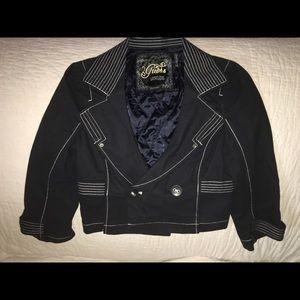 SALE Cropped navy blue lightweight jacket