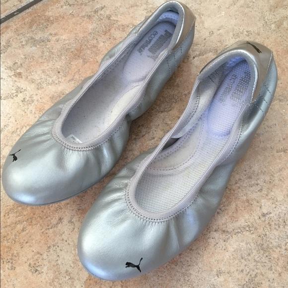 Puma Karlie S. Silver Ballet Flats Size 8 NWOT. M 57f3f7232599fe2f0100b658 90a9cfe17