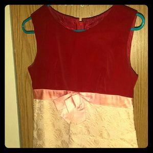 Dresses & Skirts - True vintage dress. Velvet top pink ribbon