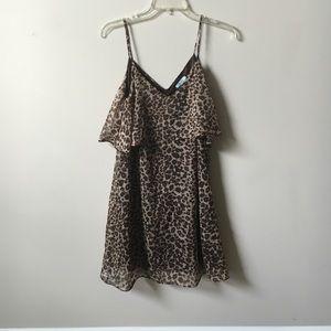 LEOPARD flounce top dress