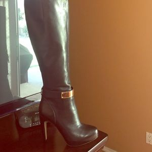 High knee San  Edelman black boots.