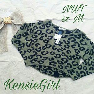 Kensie Girl Sweaters - 🆕🏷 Kensie NWT green animal print sweater M