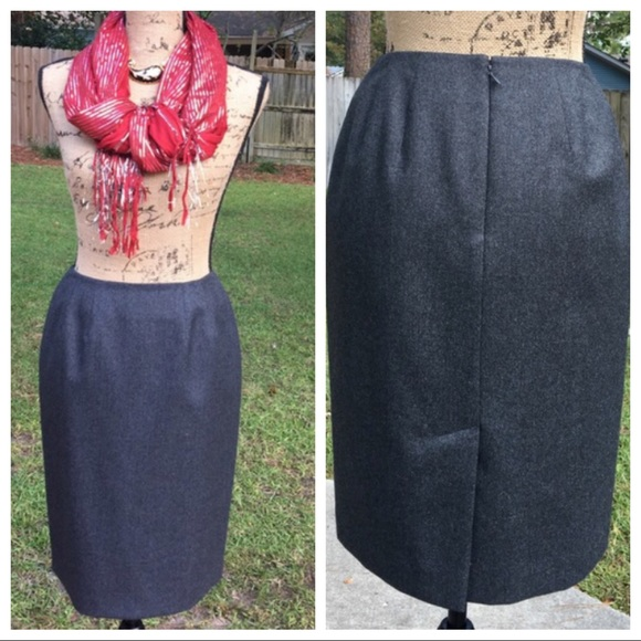 Lord Taylor Skirts Lord Taylor Petites Wool Skirt Size 4 Poshmark