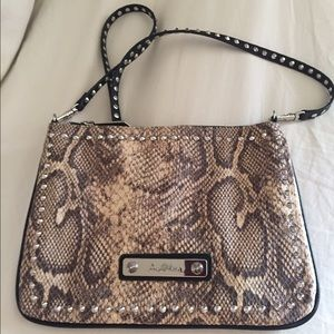 Snakeskin studded Sam Edelman cross body bag