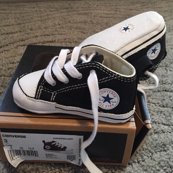 Converse First Star Black baby shoes size 3 224b25cc2