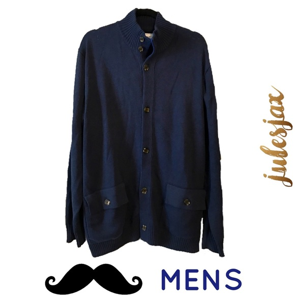 80% off Five Four Other - NWOT navy blue men's thick cardigan ...