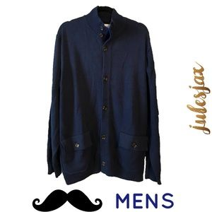 Five Four Other - NWOT navy blue men's thick cardigan jacket xxl