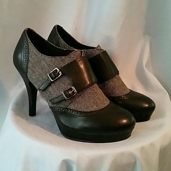 38ae24778a5 DexFlex Comfort Shoes - DexFlex Comfort Herringbone Platform Heels