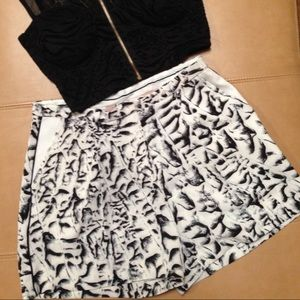 Philosophy Pants - Philosophy white/black print high rise shorts