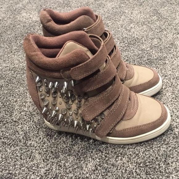 Womens Aldo High Heel Tennis Shoes Size