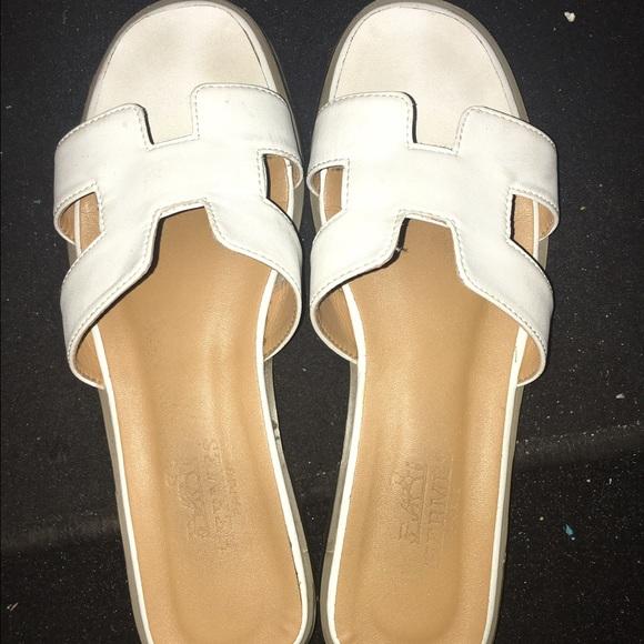 56 off hermes shoes hermes sliders from samahs closet