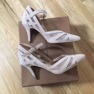 Like new beautiful beige Mary Jane heels