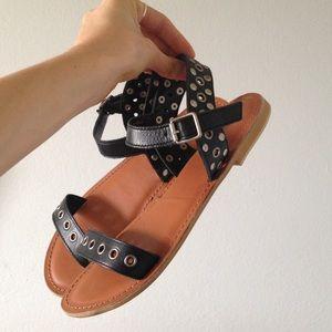 Topshop Leather Strap Sandals