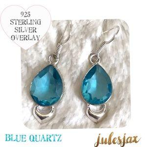 Jewelry - 💙blue quartz & sterling silver earrings