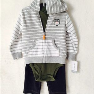 Other - 3-pc. Cardigan, Body Suit and Pants set 12M