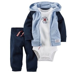 Other - 2-pc. Hooded Layette Set - Baby Boys 9M
