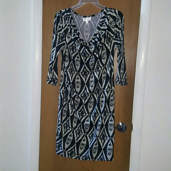 Allison Brittney Dresses & Skirts - Black & cream dress