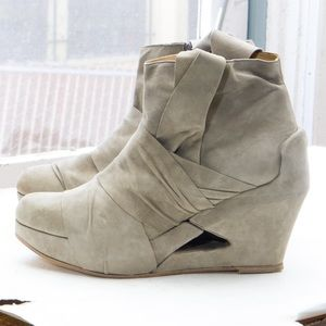 LD Tuttle wrapped wedge ankle boot, platform heel