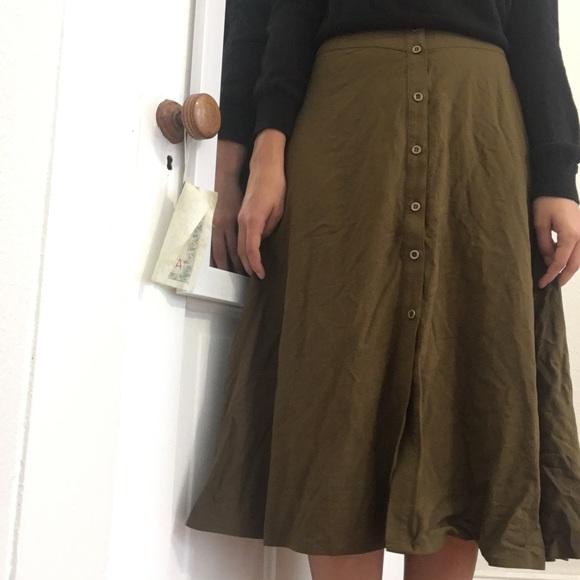 33808a2e2 Forever 21 Skirts | F21 Button Down Midi Skirt | Poshmark