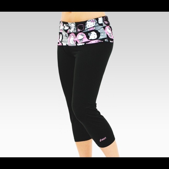 asics pants hello kitty by sanrio x cropped leggings