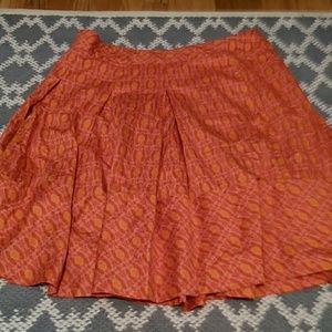 Beautiful orange skirt with pleating