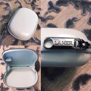 La Mer Accessories - {La Mer} Pearlized Clam Shell Cosmetic Case