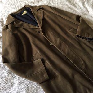 A.P.C. Jackets & Blazers - A.P.C. Olive brown cotton coat jacket