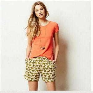 Finchley Pleated Shorts  by Cartonnier at Anthro