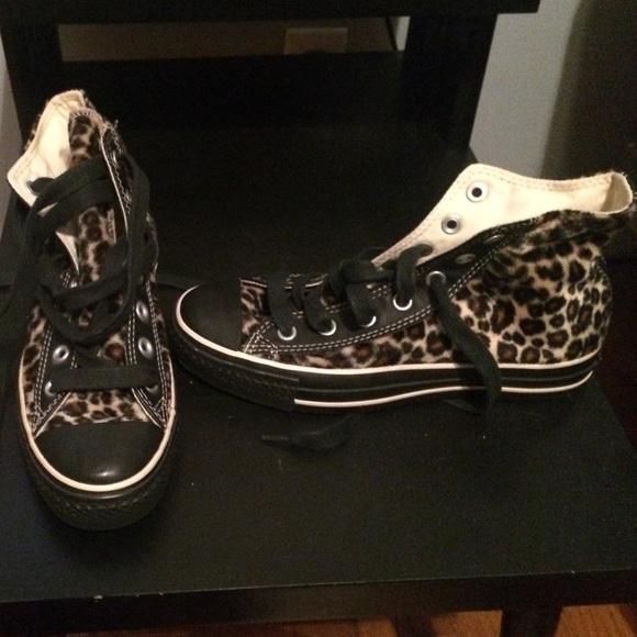 d33398d9c825 Converse Shoes - All-Star Hi Top Faux Fur Leopard Chuck Taylors