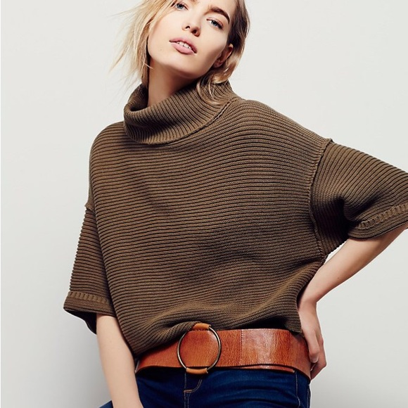 ad21f443a1b Free People Sweaters | Boxy Turtleneck Pullover | Poshmark