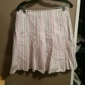 J.Crew white striped skirt size 8