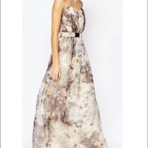 Little Mistress Dresses & Skirts - Little Mistress Printed Bandeau Maxi Dress