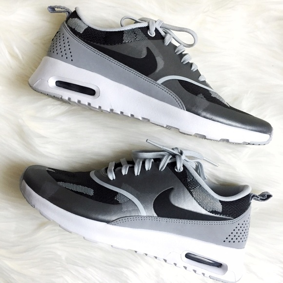 Nike Air Max Thea Jacquard Platinum Black Sneakers