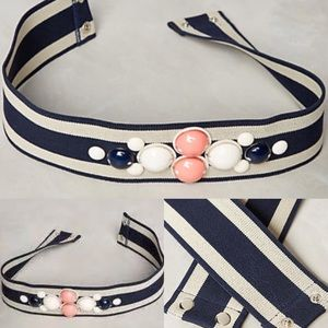 NWT Anthropologie lucayan bauble belt striped s