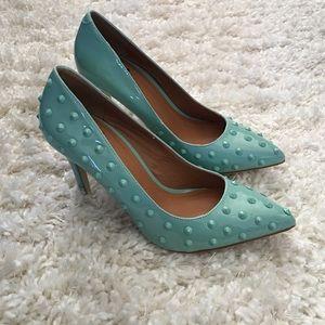 Shoedazzle Shoes - Shoedazzle-Studded Pumps-Mint Green-Size 7.5