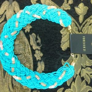 Forever 21 Jewelry - Brand New Forever 21 Turquoise Hobo Necklace