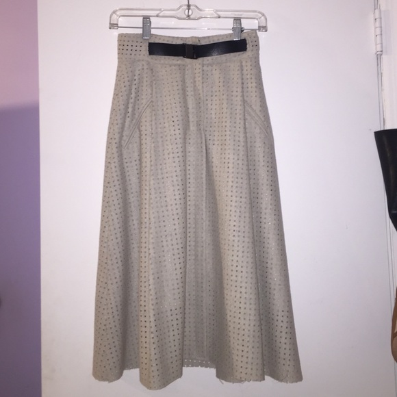 Zara Skirts - Gray midi flare skirt