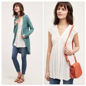 Anthropologie Ladder Lace Tunic NWT