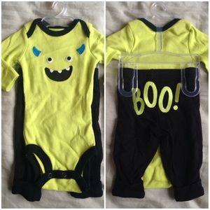 NWT Carter's Baby Boys Monster Bodysuit Pants Set