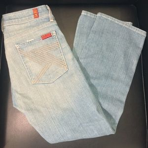 NWOT 7 For All Mankind Denim Crop Flynt Seven Jean