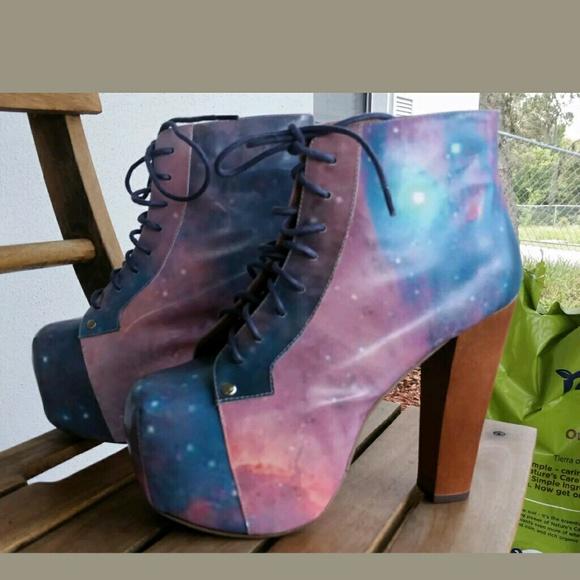 Jeffrey Campbell Shoes Lita Cosmic Galaxy Platform Boots